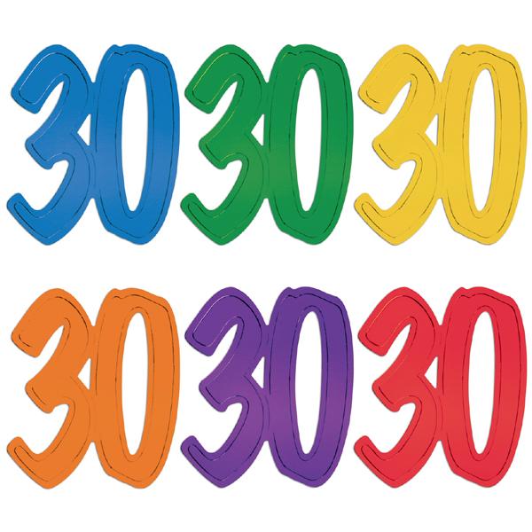 "12"" Foil Number Silhouette Cutouts - 30"