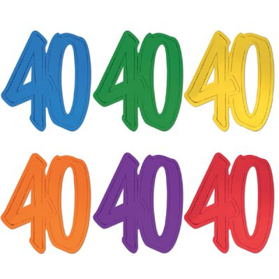 "12"" Foil Number Silhouette Cutouts - 40"