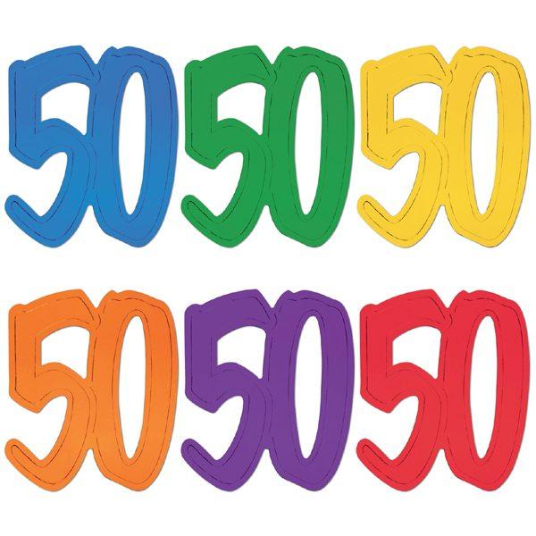 "12"" Foil Number Silhouette Cutouts - 50"