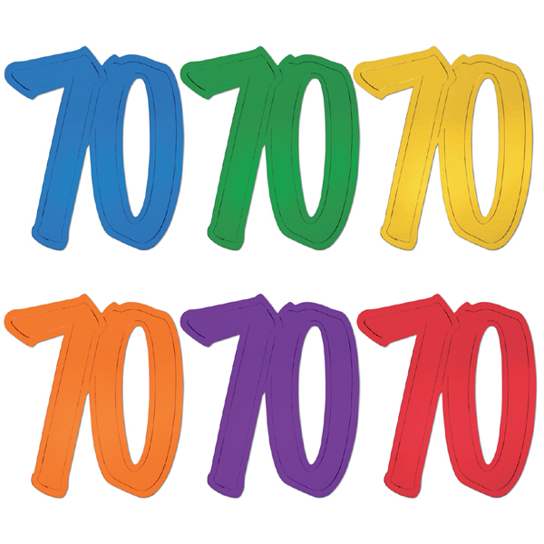 "12"" Foil Number Silhouette Cutouts - 70"