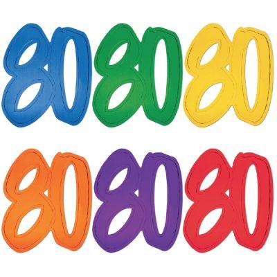 "12"" Foil Number silhouette Cutouts - 80"