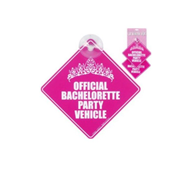 Bachelorette Car Window Signs - 2 Pack