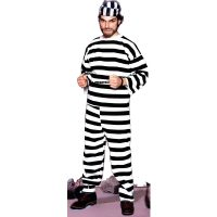 Convict Black White Stripe Shirt Pants Hats
