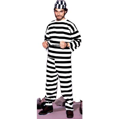 Convict Black White Stripe Shirt Pants Hats