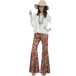 Bell Bottom Peace Sign Pants