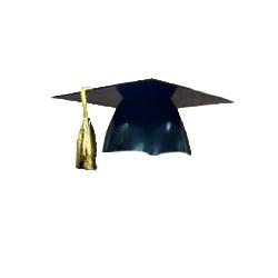 "Black 4"" Plastic Grad Cap"