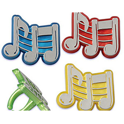 Musical notes rings
