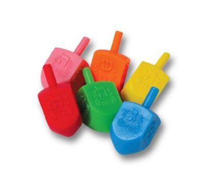 Solid Color Plastic Dreidel
