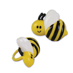 Plastic Bumble Bee Ring