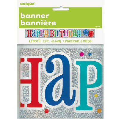 Happy Birthday Confetti Banner