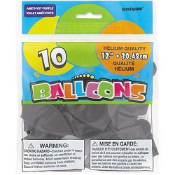 "Amethyst 12"" Latex Balloons"