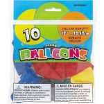 "Assorted Colors 12"" Latex Balloons"