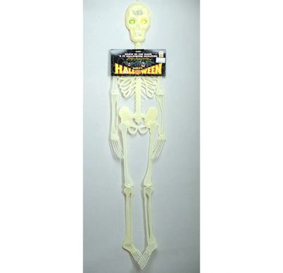 Glow in the dark skeleton w blinking eyes
