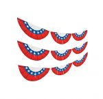 24 foot plastic patriotic bunting drape