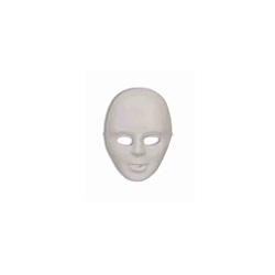Plastic full face white matte mask