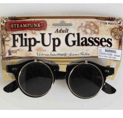 Steampunk flip eyeglasses