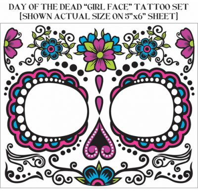 Day of the Dead Female Face Tattoo