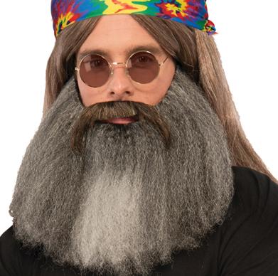 Vintage Hippie Biker Mustache n Beard