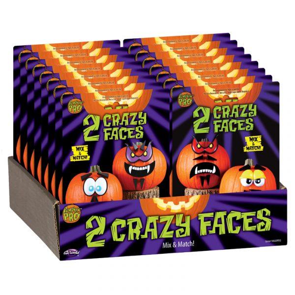 Crazy Faces Push Pumpkin Head Face pieces