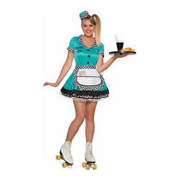 Adult Car Hop Waitress Costume