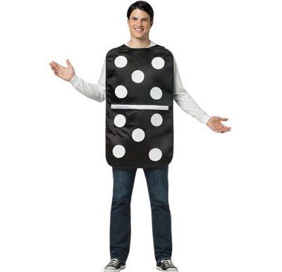 Domino Costume Black Tunic w White Dots