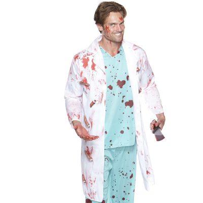 bloody lab coat w/ fingers & thumb