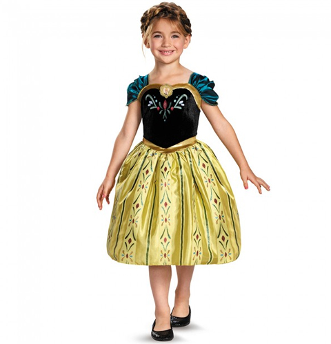 Anna Frozen child costume  sc 1 st  Cappelu0027s & Anna Frozen Movie Character Halloween Costume - Cappelu0027s