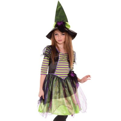 Striped Spellcaster Witch Kids Costume