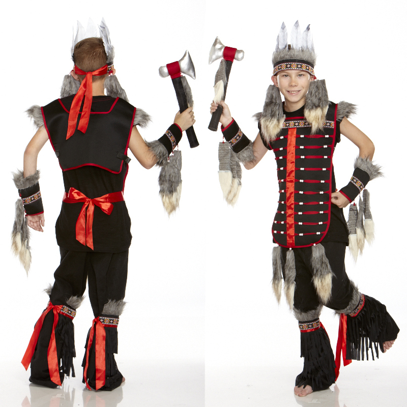 American Indian Tomahawk Warrior Kids Costume  sc 1 st  Cappelu0027s & Country Western Cowboy u0026 Indian Childrenu0027s Costumes - Cappelu0027s