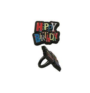 Shimmering Happy Birthday Ring