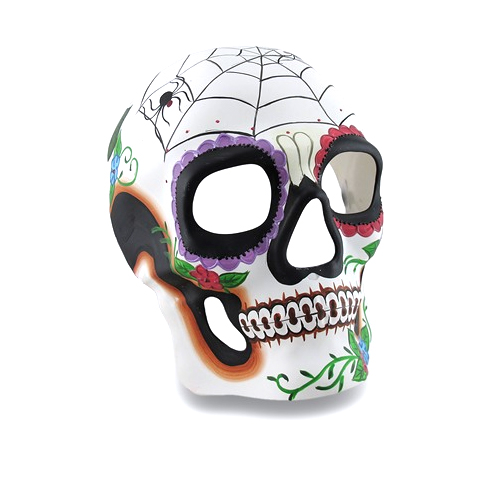 Day of the Dead Painted Full Face Mask