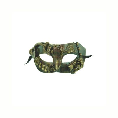 gold steampunk half mask