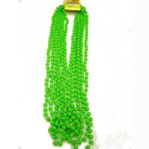 Lime green opaque mardi gras beads