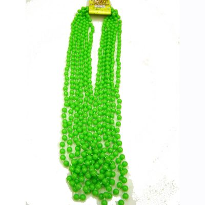 Lime green opaque mardi gras beads