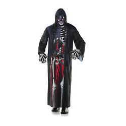 Grim Reaper Bloody Skeleton Hooded Robe