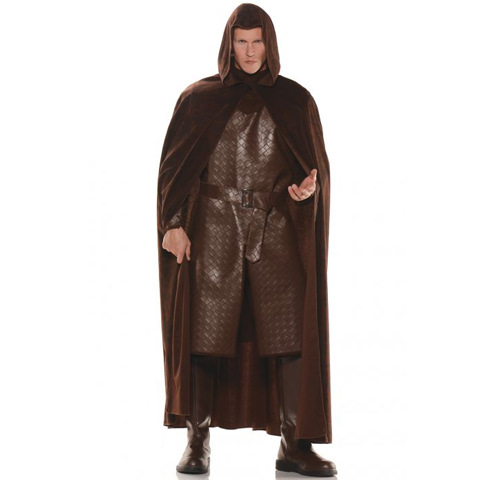 Brown Hooded Medieval Cape