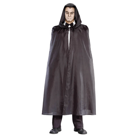 Vampire Shirt, Bow Tie, and black hooded cape