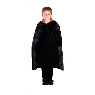 Child's black velveteen vampire cape