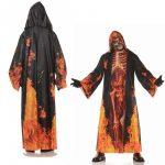 Potot Real Hooded Robe w/ Skeleton Inferno Print