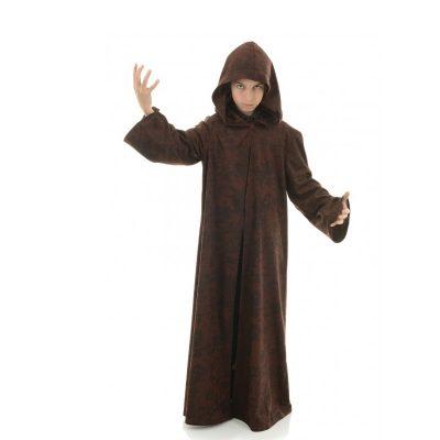 Kid's brown hooded robe