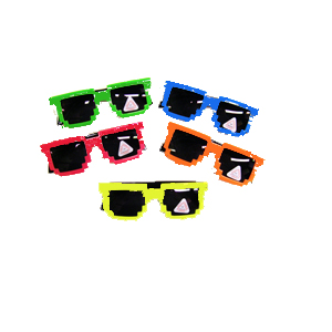 Solid Color Jagged Frame Sunglasses
