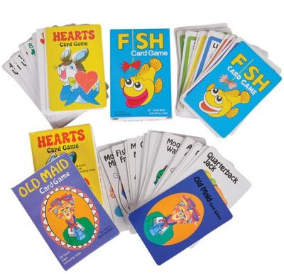 Go Fish, Hearts, and Old Maid Card Games