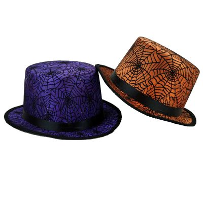 Top Hat with Spider Web fabric