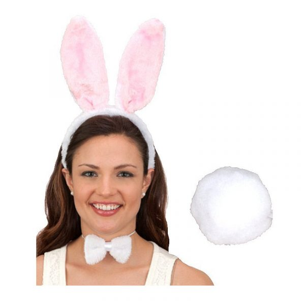 Spring Bunny Ears tail & bow tie set