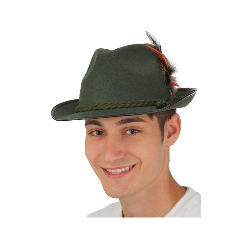 Green Felt German Hat - Large
