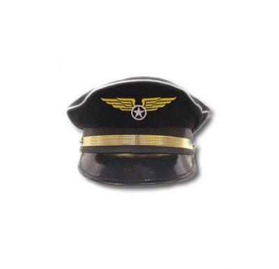 Navy Blue Adjustable Pilot Hat
