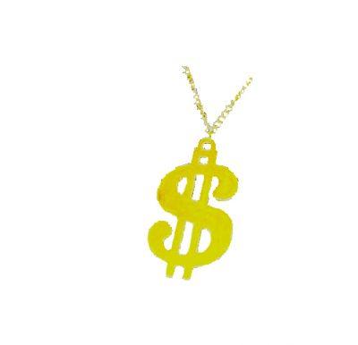 metal dollar sign pimp necklace