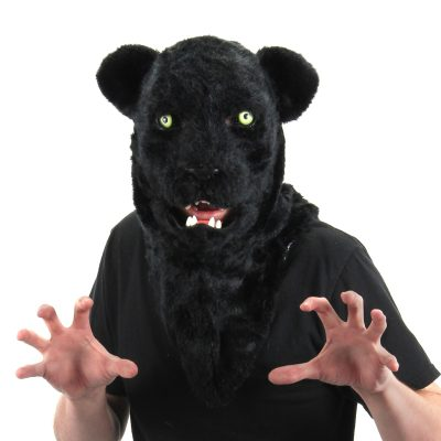 Black Panther Mask with Movable Mouth