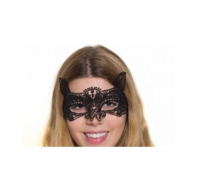black lace half mask fantasy