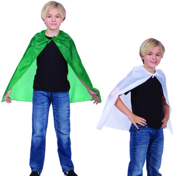 "Green 26"" cape, White 26"" Cape"